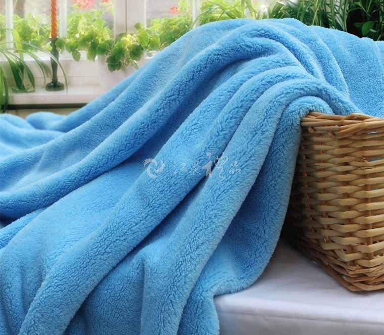 素色珊瑚绒毯