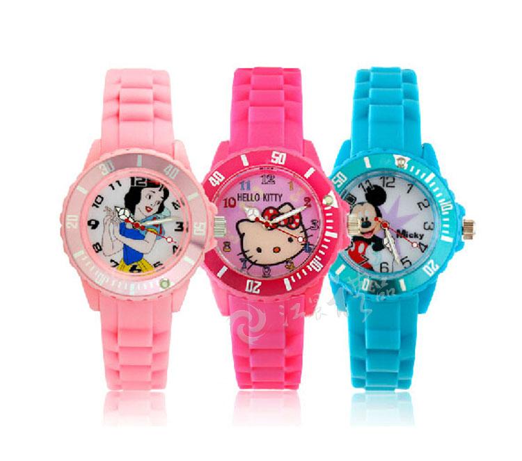 卡通果冻色儿童手表