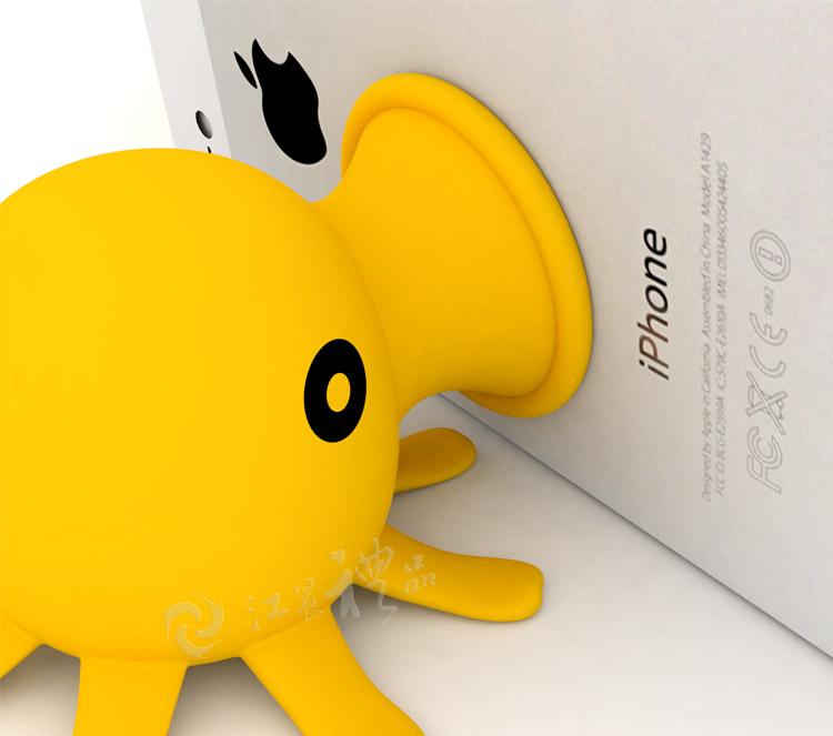 可爱小章鱼手机支架