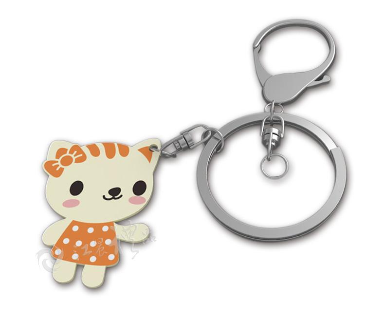 可爱猫咪硅胶钥匙扣